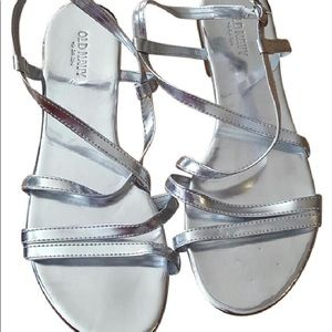 Silver strapped sandals